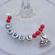 I Love To Read Personalised Wine Glass Charm